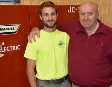 Veterans Day observed: Military service helps bond, define Joe Dickey and his grandson